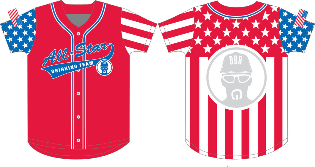 Billy Buck Roscoe's ALL STAR Drinking Team Jersey