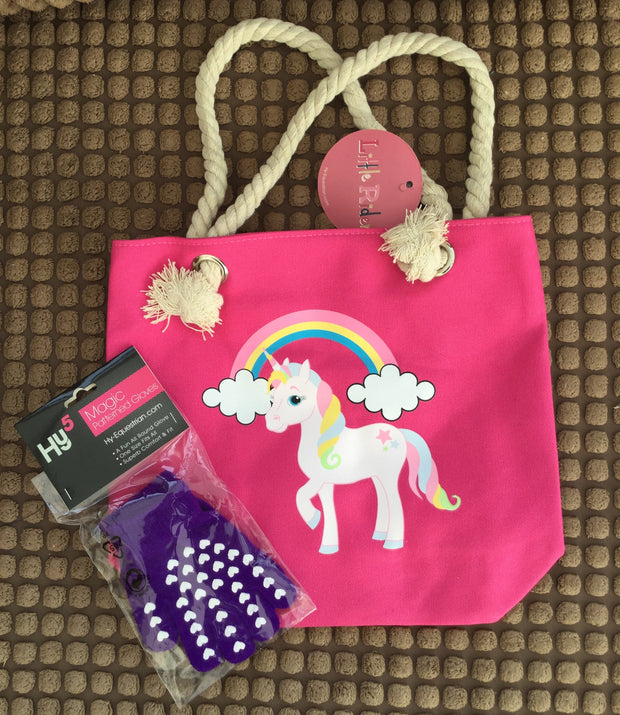 Little Rider Tote Bag and children's magic gloves