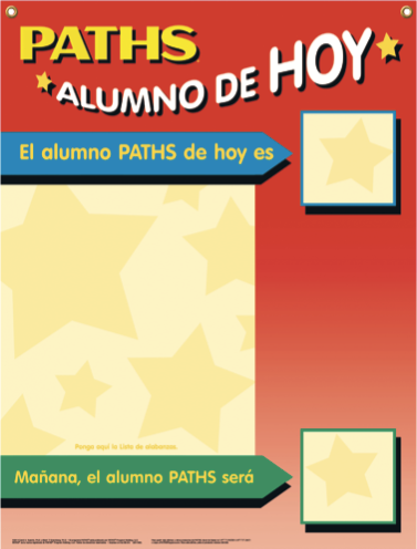 """PATHS® Kid for Today"" Poster [Spanish]"