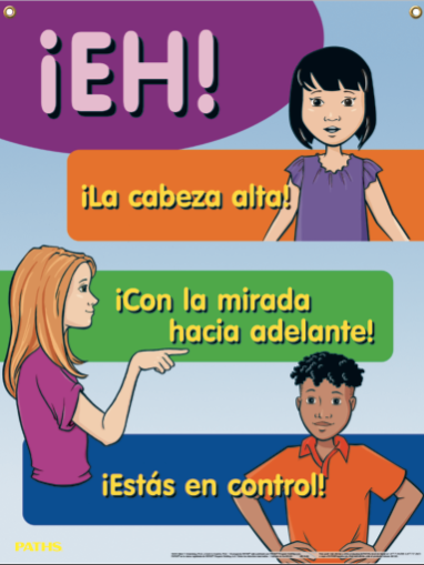 """H.E.Y."" (Heads up, Eyes Forward, You are in Control) Poster [Spanish]"