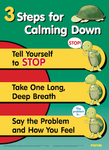 """3 Steps for Calming Down"" Poster"