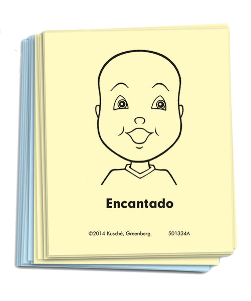 """Feeling Faces"" Cards - Grade 1-2 Classroom Set [Spanish]"
