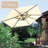 FIM C-Series 10.5' Hexagon Cantilever Patio Umbrella