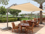 FIM Flexy Aluminum 8' x 10' Rectangular Offset Patio Umbrella