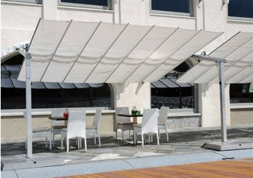 FIM Flexy Aluminum 10' x 16' Rectangular Offset Patio Umbrella