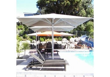 Shademaker Astral 13'1 Square Pulley Lift Patio Umbrella (SMASTRALTC40S)