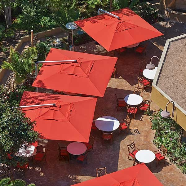 Shademaker Galaxy 13'1 Crank Lift Patio Umbrella (SMGALAXY40S)