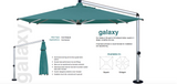 Shademaker Galaxy 11'5' Crank Lift Patio Umbrella (SMGALAXY35S)