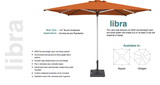 Shademaker Libra 8'2 Pulley Lift Octagon Patio Umbrella (SMLIBRA25)
