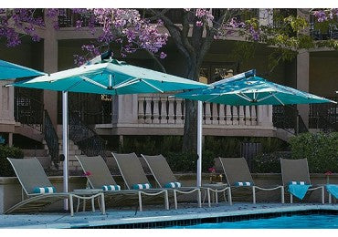 Shademaker Orion 8'9 Square Crank Lift Offset Patio Umbrella (SMOR27S)