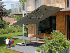 Shademaker Sirius 9'9 Square Crank Lift Offset Patio Umbrella (SMSR30S)