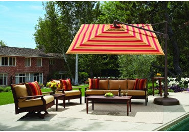 Treasure Garden 10' Square Cantilever Umbrella