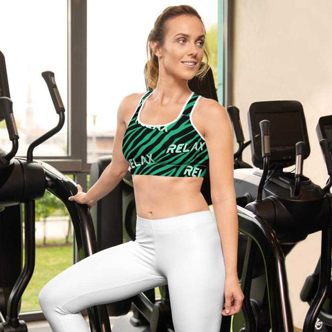Zebra Green Sport bra - Gym Your Age™