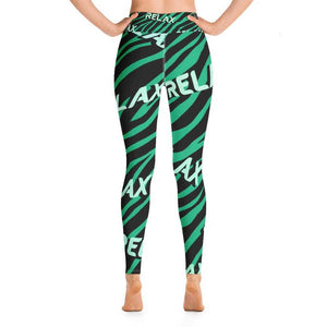 Relaxed Zebra Green Yoga Pant - Gym Your Age™