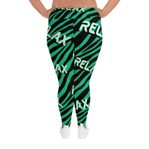Zebra Green Plus Size Yoga Pant - Gym Your Age™