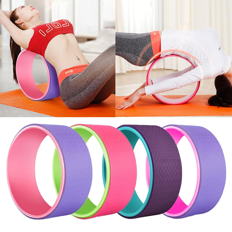 Yoga Wheel Magic Circle Yoga Ring Home Slimming Fitness Relieve Stress Equipment Slimming Magic Waist Shape Ring