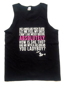 Catchphrase tank (black)