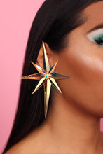 Load image into Gallery viewer, AB Starburst earrings (large)