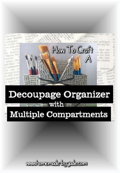 Decoupage Organizer with Multiple Compartments