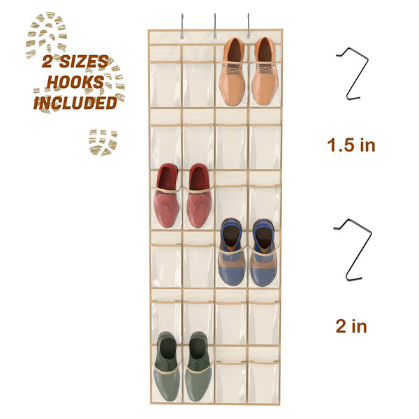 Simplized Over The Door Hanging Shoe Organizer-24-Pocket $6.33