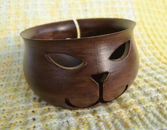 Minimalist Wooden Yarn Bowl