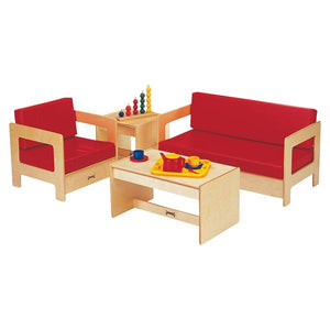 Jonti-Craft 0375JC KYDZ Living Room Couch - Red