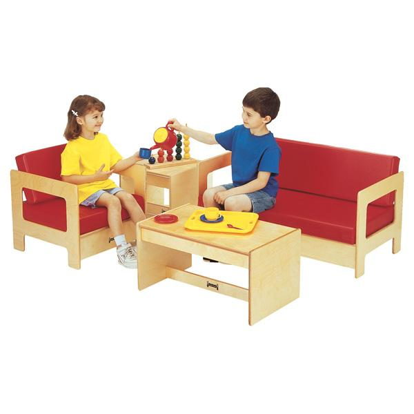 Jonti-Craft 0380JC KYDZ Living Room 4 Piece Set - Red