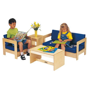 Jonti-Craft 0381JC KYDZ Living Room 4 Piece Set - Blue