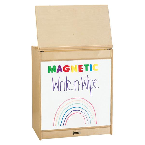 Jonti-Craft 0543JCMG Mobile Big Book Easel with Magnetic Write-n-Wipe Surface