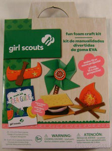 Girl Scout Fun Foam Craft Kit Lot 3 Idea Guide Projects Colorbok Crystals Gift