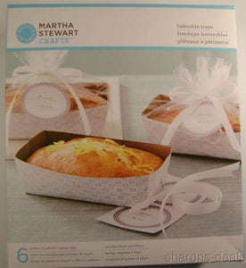 Martha Stewart Crafts 18 Bakeable Trays Lot 3 Pans Labels Ribbon Cello Bags Gift