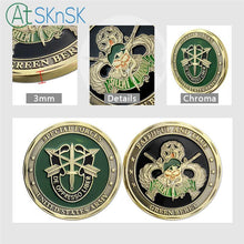 Load image into Gallery viewer, Latest retro coin bronze plated Skull crafts Green Beret metal coin collectible Special Forces Unite States Army challenge coins