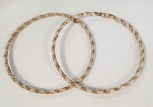 Handcrafted Small Extra Thin Striped Weave Lauhala Bracelet