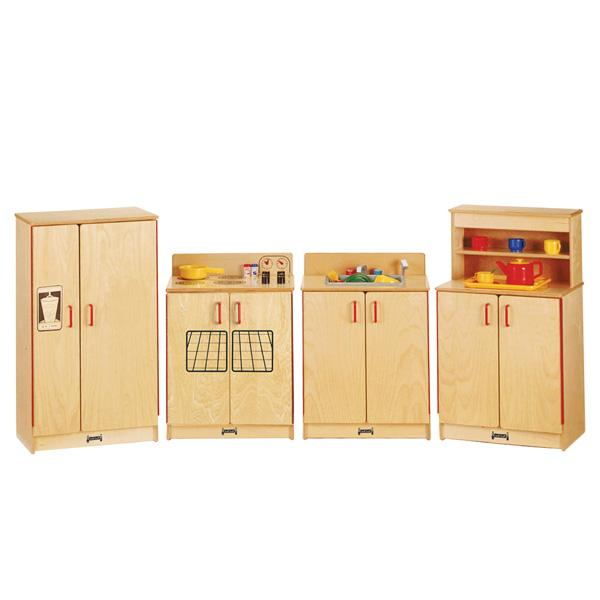 Jonti-Craft 2030TK Natural Birch Play Kitchen 4 Piece Set