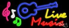 Live Music Handcrafted Real GlassTube Neon Sign