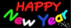 Happy New Year Handcrafted Real GlassTube Neon Sign