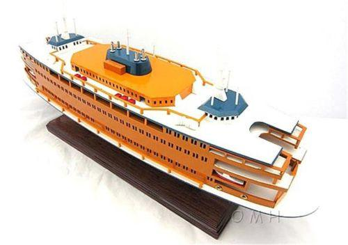 Handcrafted Staten Island Ferry Wooden Model Ship