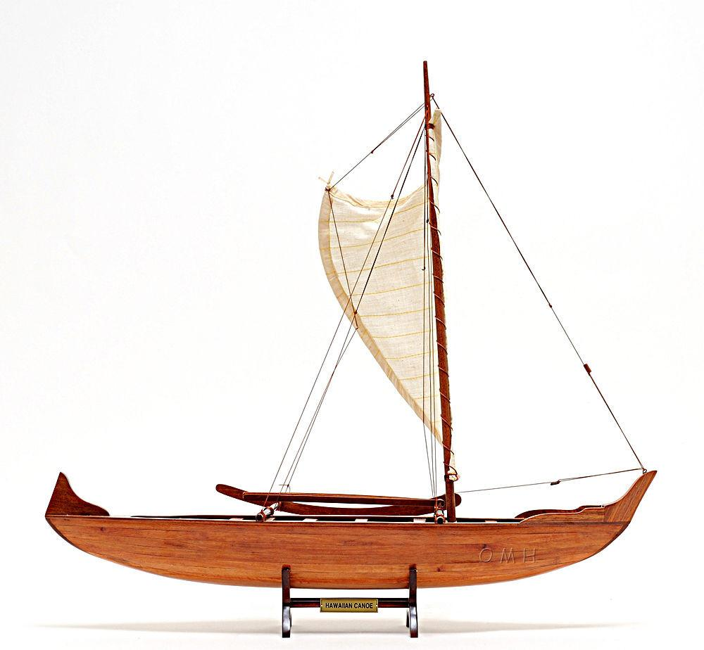 Hawaiian Canoe Wooden Handcrafted Model