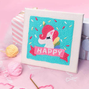 Happy Candy DIY Rug Hooking Punch Needle Embroidery Hand Craft