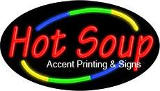 Hot Soup Flashing Handcrafted Real GlassTube Neon Sign