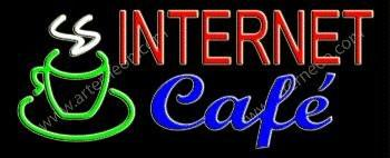 Internet Cafe Handcrafted Real GlassTube Neon Sign