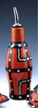 Handcrafted Oil Bottle from Fired Up Clay Works - Choice of Style