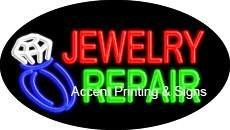 Jewelry Repair Flashing Handcrafted Real GlassTube Neon Sign