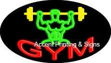 Gym Flashing Handcrafted Real GlassTube Neon Sign
