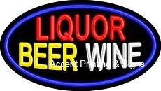Liquor Beer Wine Flashing Handcrafted Real GlassTube Neon Sign