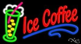 Ice Coffee Handcrafted Real GlassTube Neon Sign