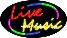 Live Music Flashing Handcrafted Real GlassTube Neon Sign