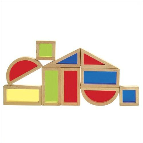 Guidecraft G3015 Rainbow Blocks Set, 10 Pieces