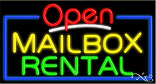 Mailbox Rental Open Handcrafted Energy Efficient Glasstube Neon Signs