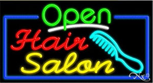 Hair Salon Open Handcrafted Energy Efficient Glasstube Neon Signs